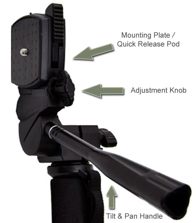 Dual Optional Head for Canon VIXIA HF R800 Professional Heavy Duty 72 Monopod//Unipod