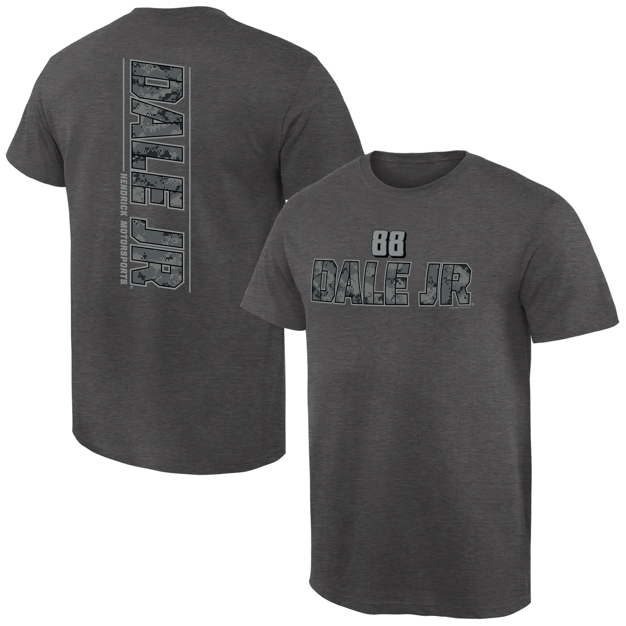 Dale Earnhardt Jr. Camo Stealth T-Shirt - Ash