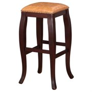 Linon San Francisco Square Top Bar Stool, 30 Inch Seat Height, Multiple Colors