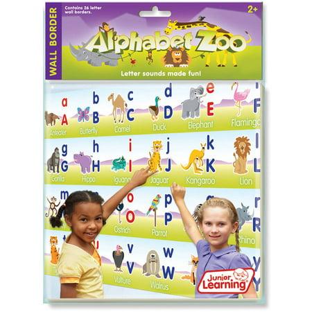 Junior Learning Alphabet Zoo, Wall Border Alphabet Soup Wall Border