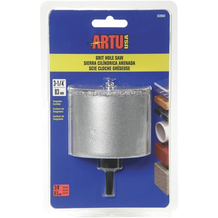 ARTU 02860 Hole Saw 5 8 18 Arbor 2 1 4 in D Cutting Tungsten Carbide C
