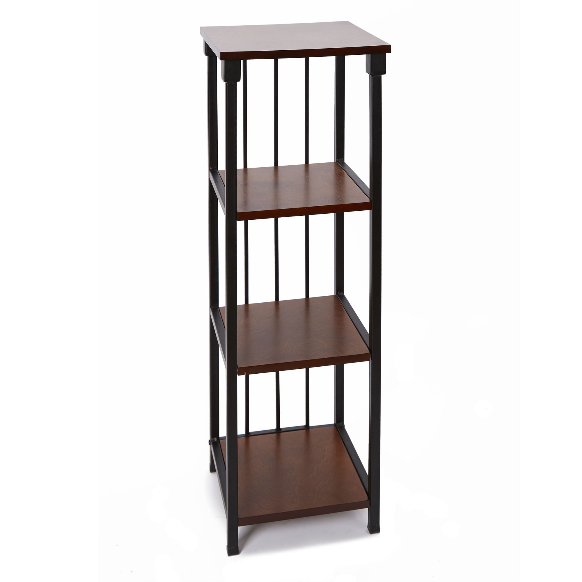Mixed Material Bathroom Collection 4-Tier Floor Shelf, Oil Rubbed Bronze