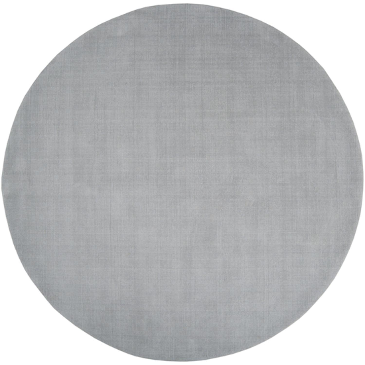 6' Round Rogue Love Charcoal Gray Wool Area Throw Rug