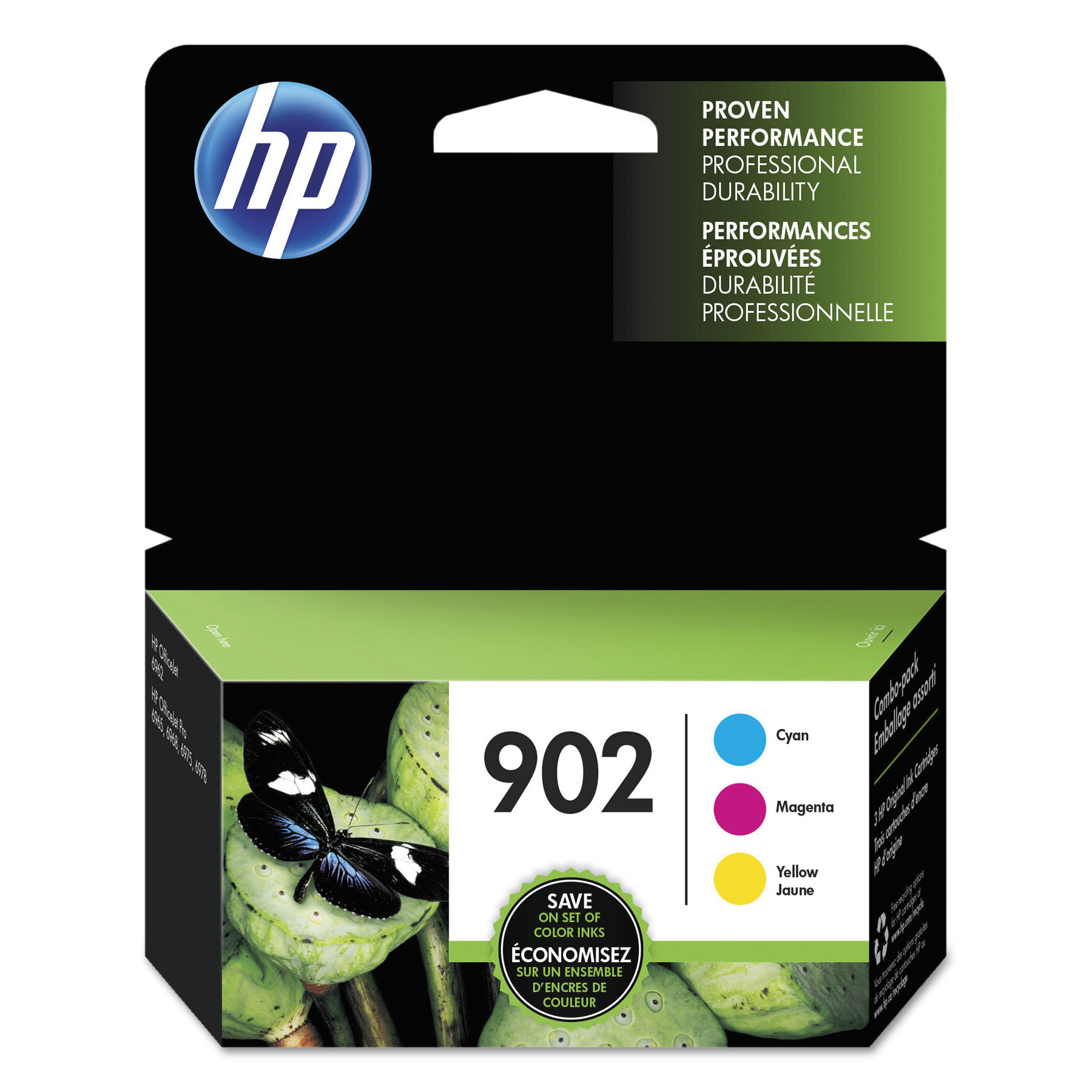 HP 902 T0A38AN Cyan Magenta Yellow Original Ink Cartridge 3 Pk