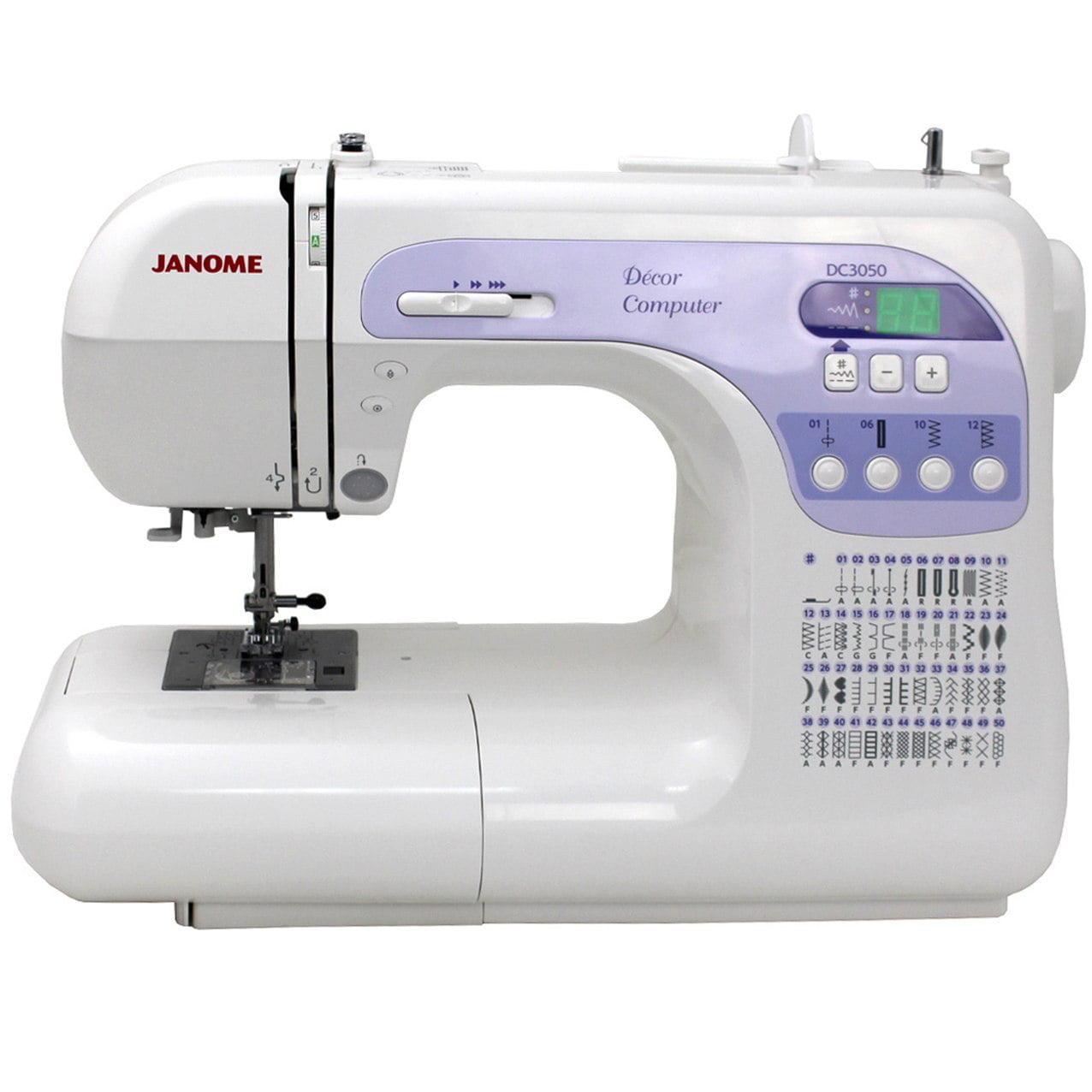 Janome DC 3050 Computerized Sewing Machine with Exclusive Bonus Bundle