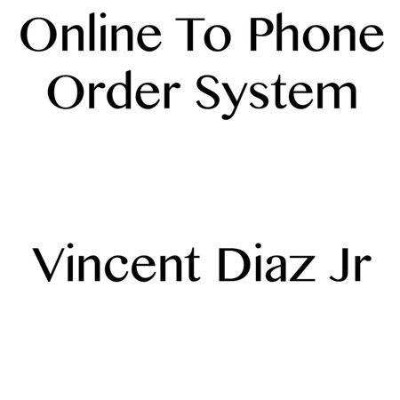 Online to Phone Order System - eBook](Order Fireflies Online)