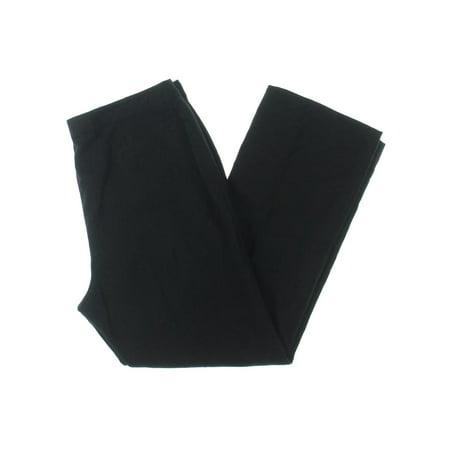 Petite Washed Linen - Kasper Womens Petites Audrey Linen Pleat Front Pants