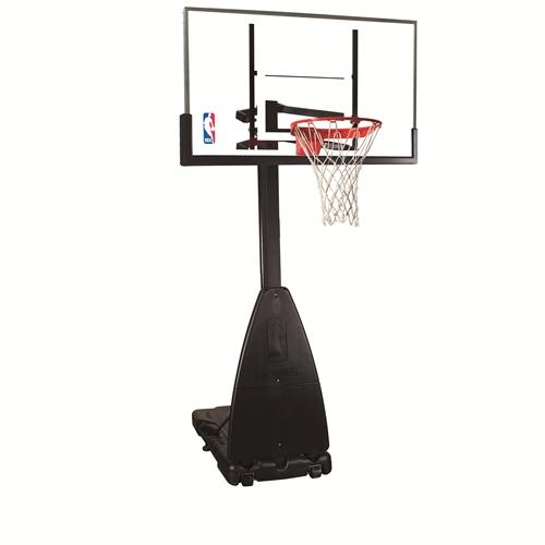 Spalding 54 Inch Glass Pro-Tek Portable Basketball Hoop System by Spalding