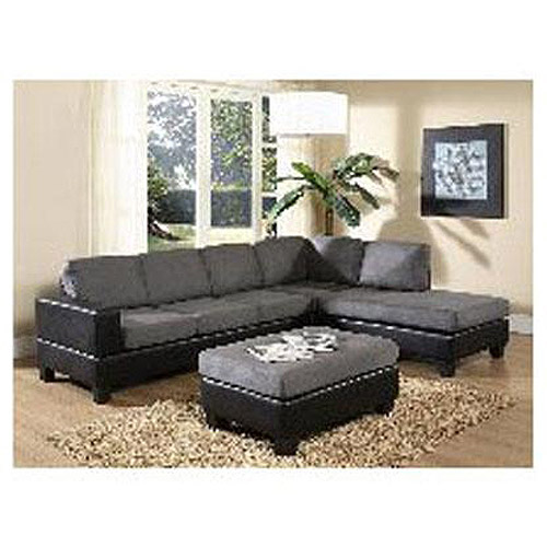 Furniture of America Dallin Sectional Sofa, Grey (Box 2 of 3)