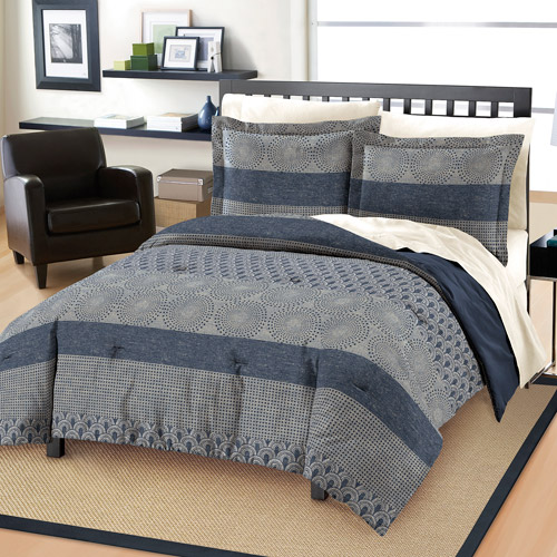 Free Spirit Marina Mini Bedding Comforter Set, Blue