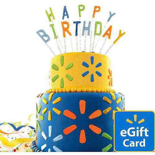 Birthday Cake Walmart Egift Card Walmart