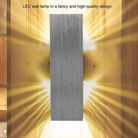 Ejoyous  Lumière blanche chaude en aluminium de lumière de mur de lampe de l'effet blanc chaud de 6W pour le décor d'éclairage intérieur, LED d'intérieur, lumière d'intérieur - image 9 de 12