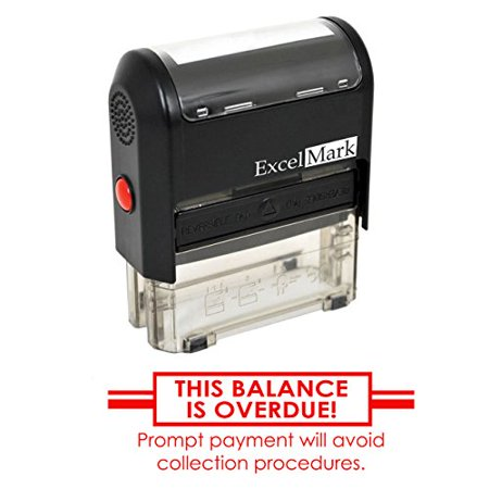Balance Collection - THIS BALANCE IS OVERDUE - Self Inking Bill Collection Stamp in Red Ink