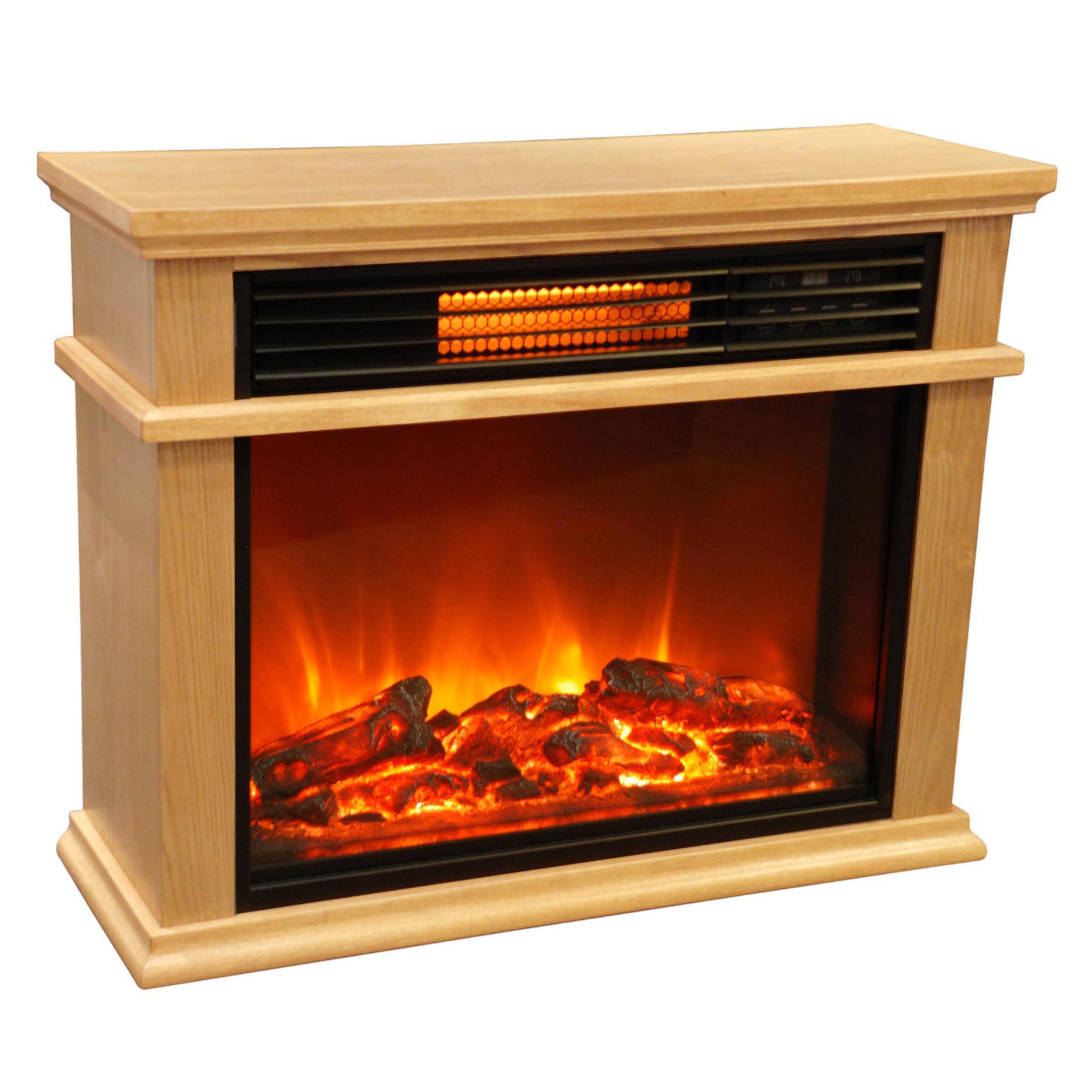 Lifesmart Large Room Infrared Quartz Fireplace Fireplace