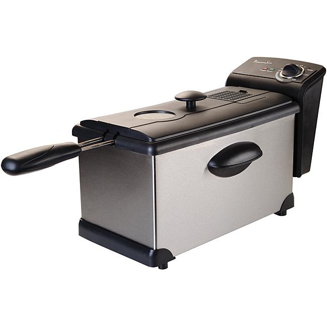CONTINENTAL ELECTRICS ps75911 Stainless Steel 3-Liter Deep Fryer
