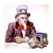 Pivot Publishing - A PPAPVP1532 James Montgomery Flagg -Uncle Sam With Empty Treasury 1920 -12 x 12 Poster Print