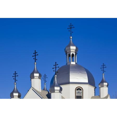 St Nicholas Ukrainian Orthodox Church Gonor Manitoba PosterPrint ()
