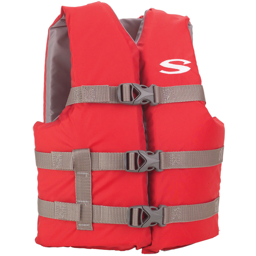 STEARNS CLASSIC YOUTH LIFE JACKET RED 50-90 LBS 3000004472 by Stearns