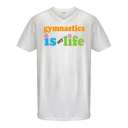 Gymnastics Is My Life Men's V-Neck T-Shirt - Walmart.com