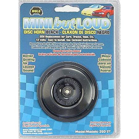 Wolo (260-2T) Mini But Loud Disc Horn - 12 Volt, Black