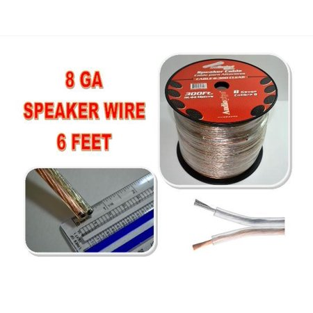 8 GA GAUGE SPEAKER WIRE SUB WOOFER STRANDED COPPER MIX POWER GROUND (6 FT)