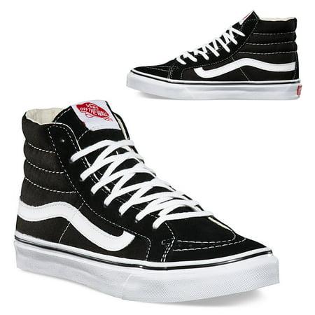 3409e860bb6905 Vans Old Skool Sk8-Hi Slim Black White Canvas Classics Skate Shoe Unisex  Sneakers Hi top Men 13