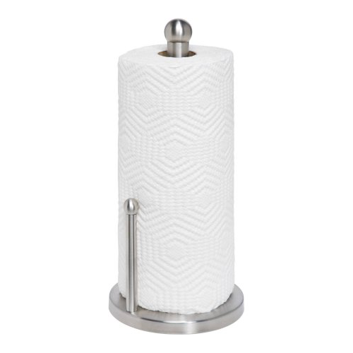 Honey Can Do Stainless Steel Paper Towel Holder, Silver