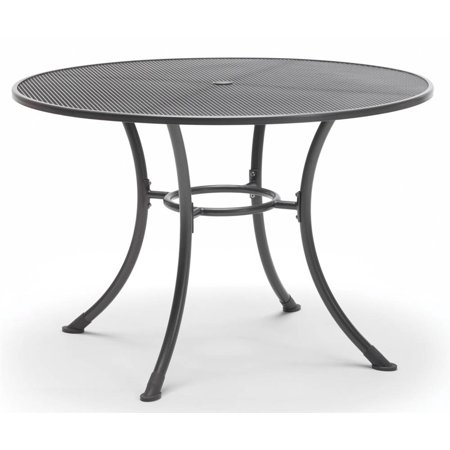 KETTLER Round Mesh Top Steel Patio Dining Table