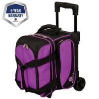 e87b95a589 Product Image Ebonite Transport I Roller Bowling Bag- Purple Black (2017)