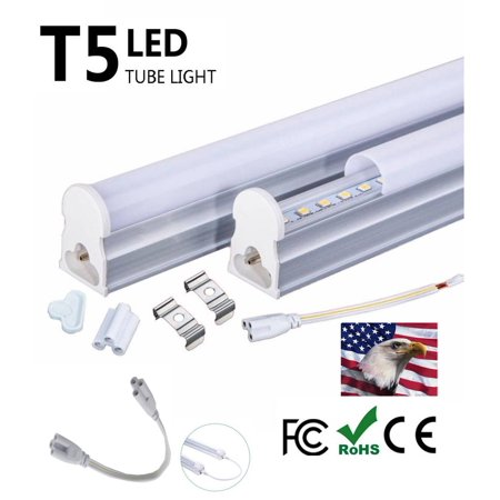 iLett T5 LED (Not Fluorescent) Ceiling Light Fixture, 4 Feet, 18W (72W Equivalent), 1440lm, 6000K (Cool White),CE ROHs, 85-265V