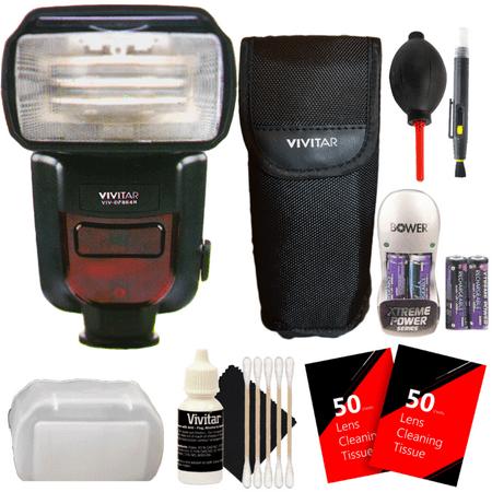 Vivitar DF-864 Speedlight Flash with Deluxe Accessory Kit for Nikon DSLR Cameras