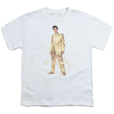 Elvis Presley - Gold Lame Suit - Youth Short Sleeve Shirt - (Suit Short Sleeves)
