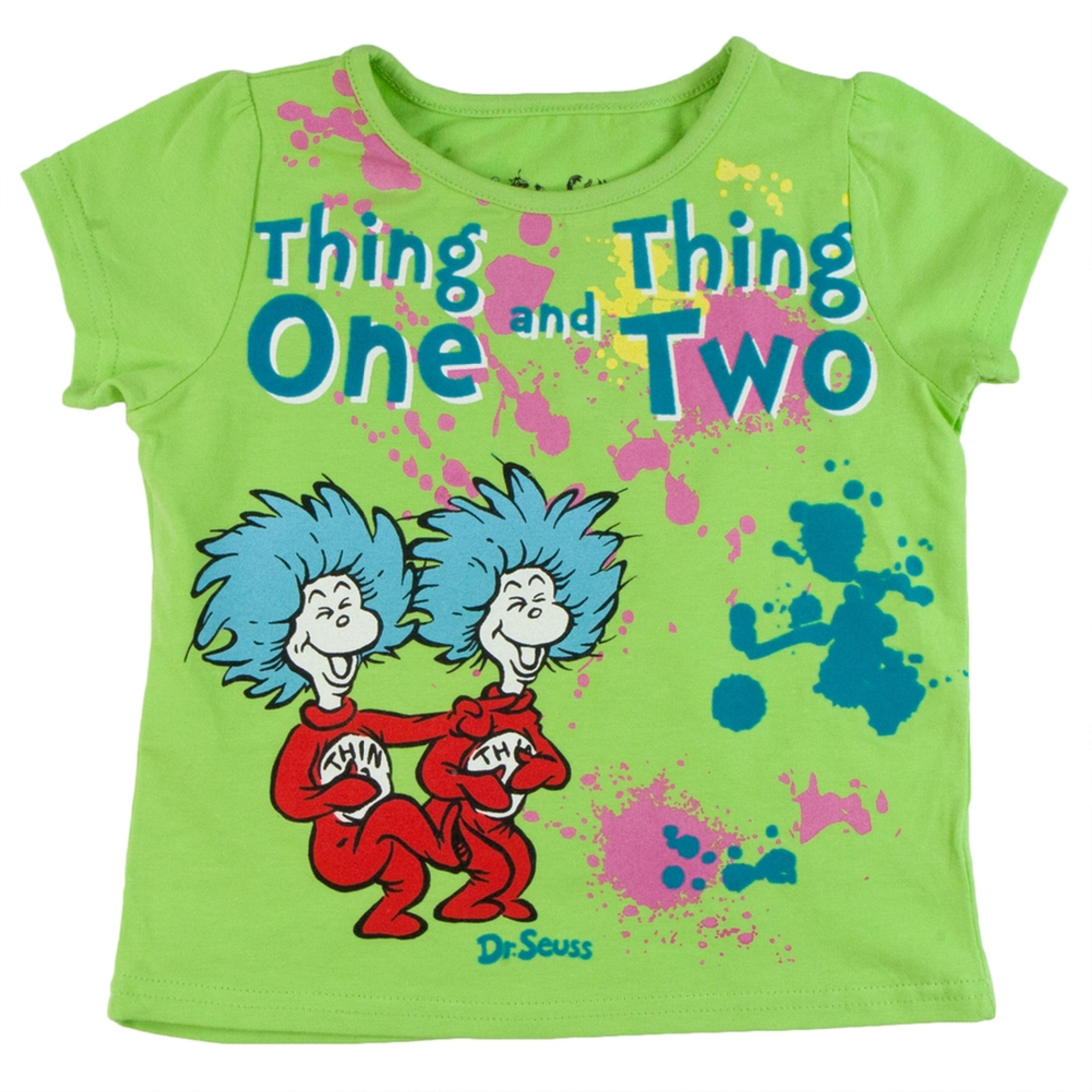 Dr Seuss Kids Shirts: Thing 1 And 2 Messy Things Toddler
