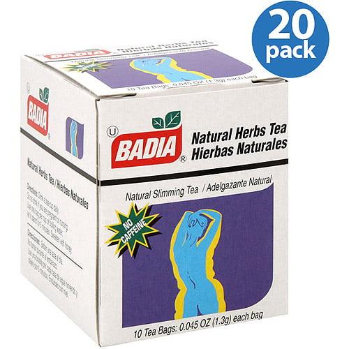 Badia Natural Herbs Tea Bags, 0.045 oz, (Pack of 20) by Generic