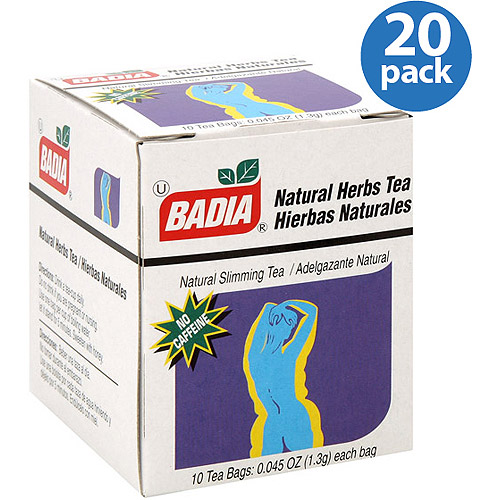 Badia Natural Herbs Tea Bags, 0.045 oz, (Pack of 20)