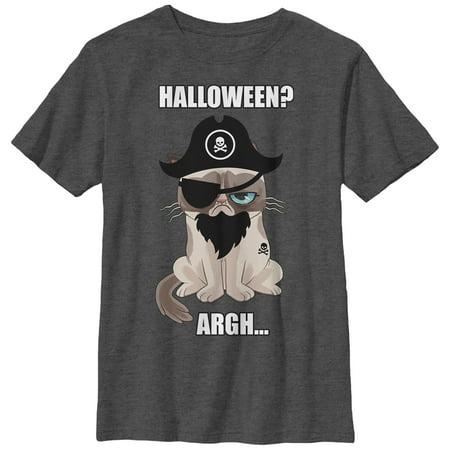 Grumpy Cat Boys' Halloween Pirate T-Shirt](Pirate Apparel)