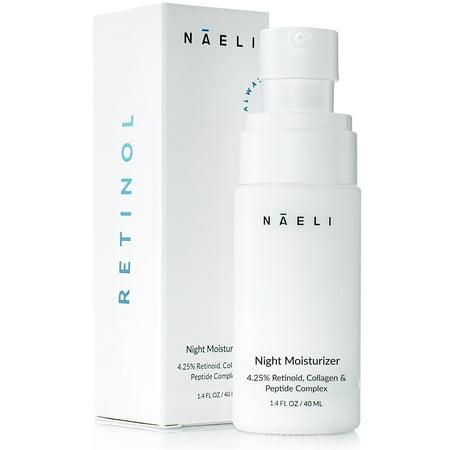 4.25% Retinol Cream Moisturizer For Face with Anti Aging Collagen For Women & Men, 1.4 oz.