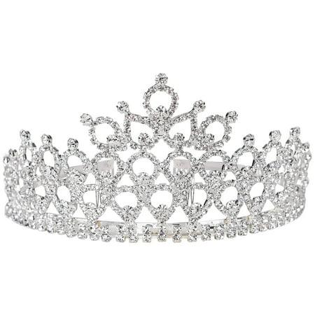 Simplicity Women's Prom Queen Crystal Rhinestones Crown Tiara - Prom Crowns