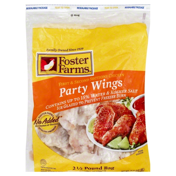 Foster Farms Party Wings 2.5lb Bag