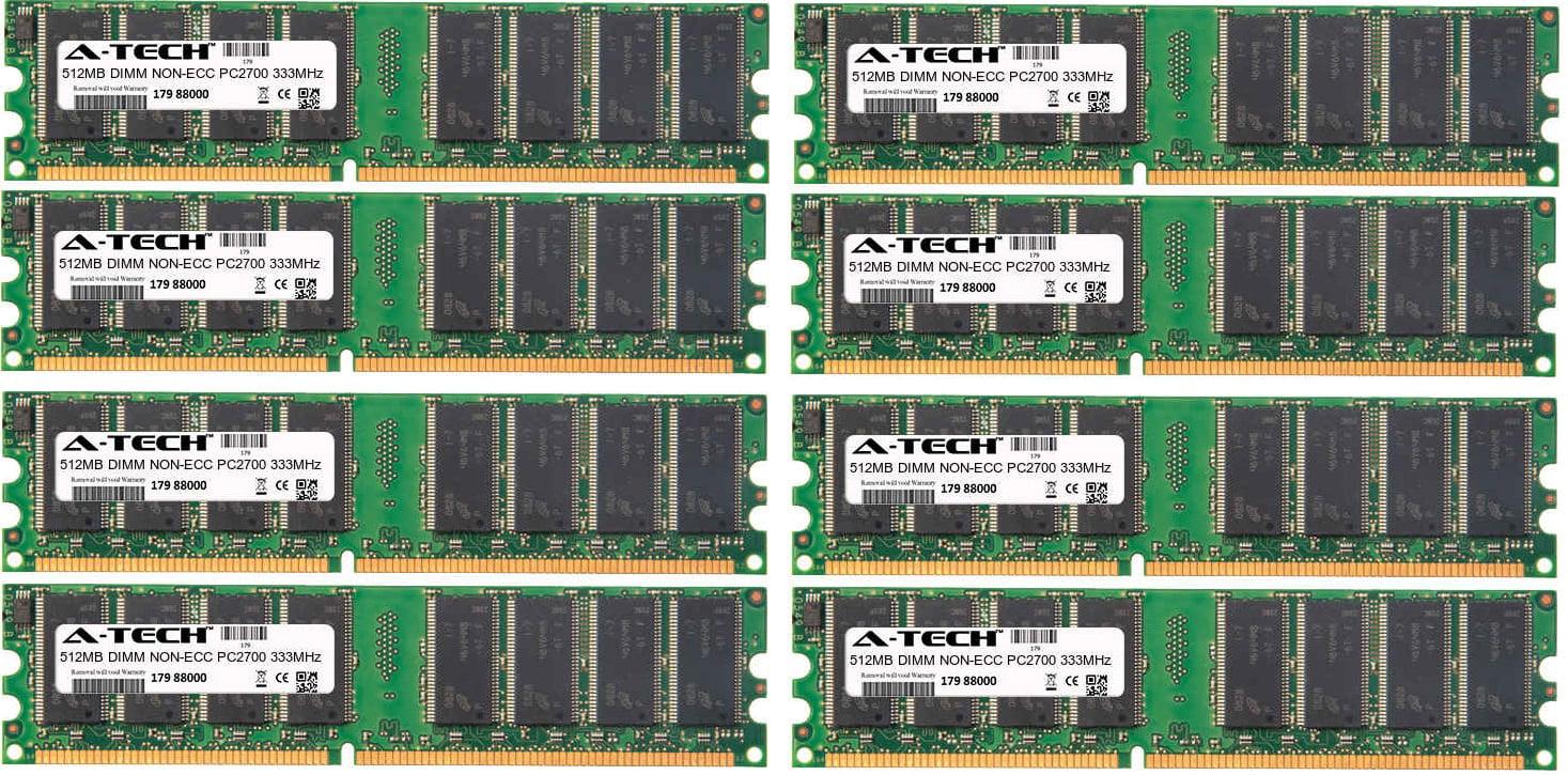 4GB Kit 8x 512MB Modules PC2700 333MHz NON-ECC DDR DIMM Desktop 184-pin Memory Ram