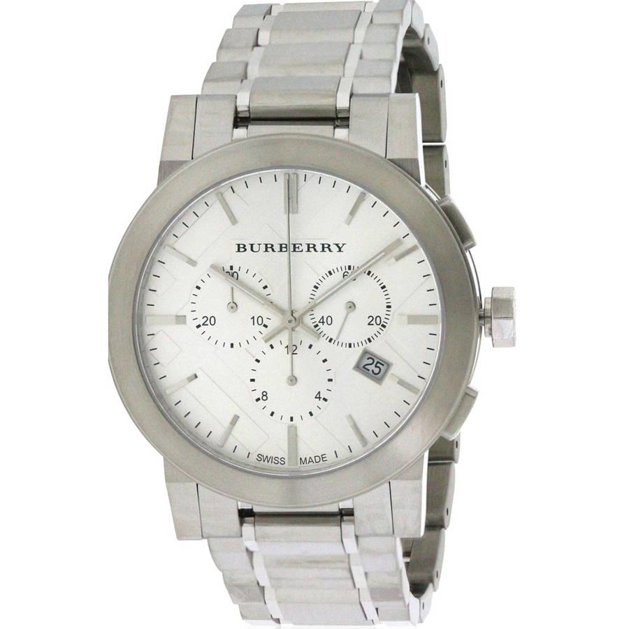 Burberrys Large Check Chronograph Mens Watch BU9350