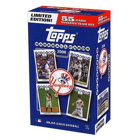 Mlb 2008 Topps Baseball Cards New York Yankees Team Set Collectors Edition