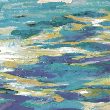 "Portfolio Canvas Decor ""Rhythmic Nature Ocean Blues I"" Framed and Stretched Large"