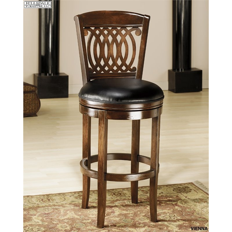 "31"" Vienna Swivel Barstool Wood/Brown - Hillsdale Furniture"
