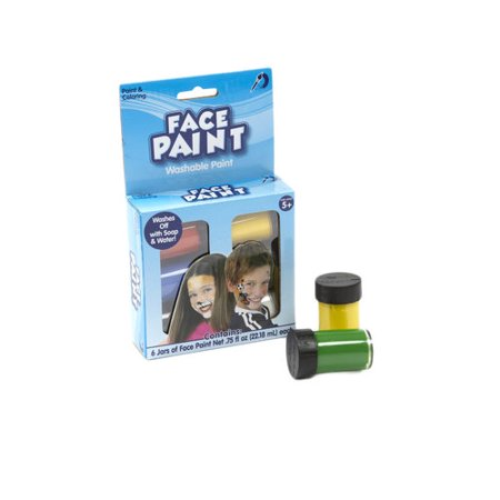 Kids Craft Face Paint, 6 Jars