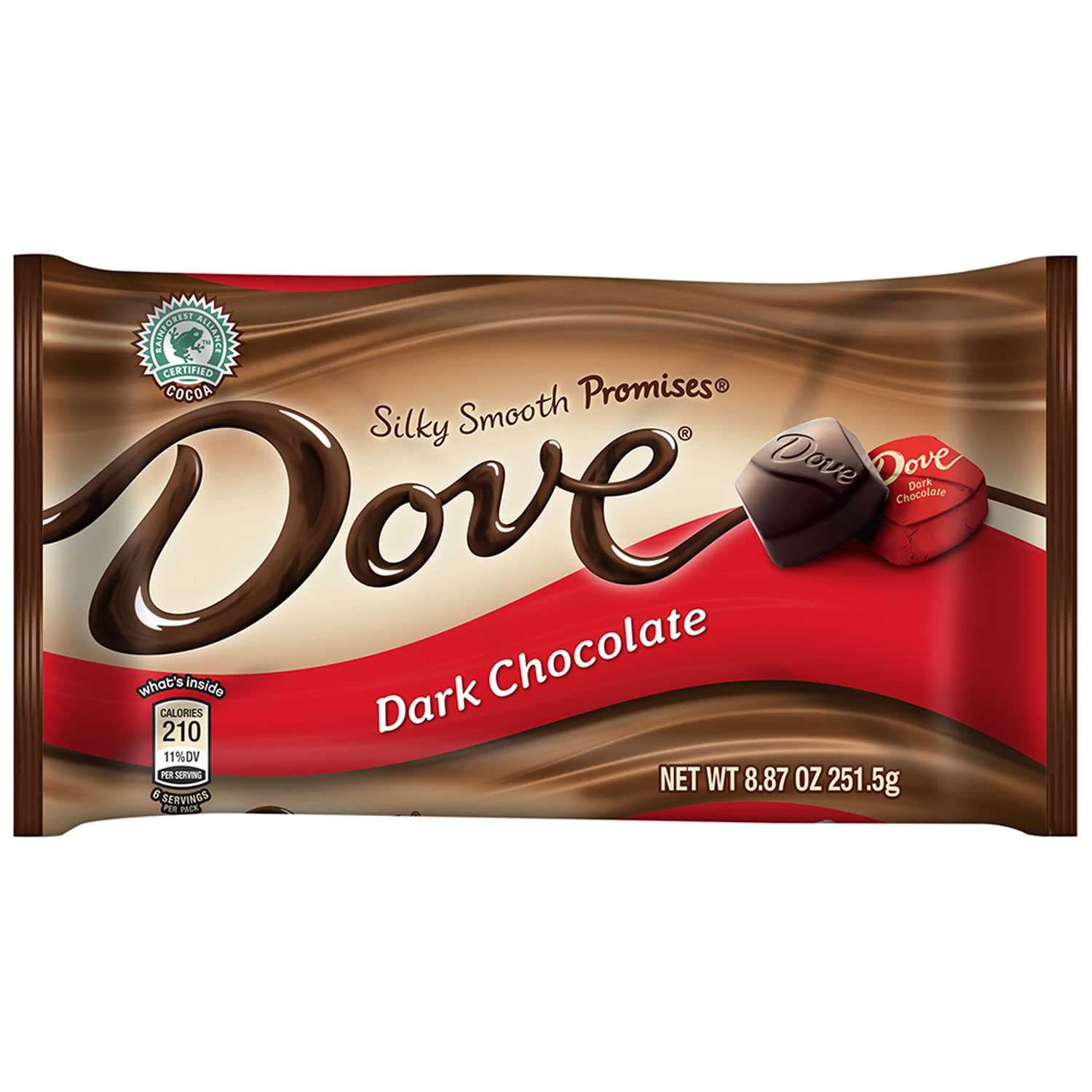 DOVE PROMISES Dark Chocolate Candy 8.87-oz. Bag, 8.87 OZ