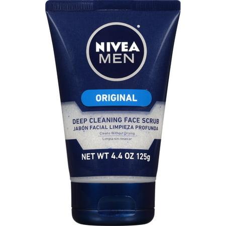 Nivea Men Original Deep Cleaning Face Scrub, 4.4 OZ