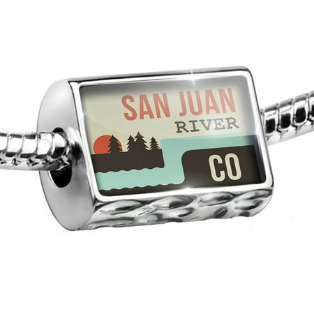 - Bead USA Rivers San Juan River - Colorado Charm Fits All European Bracelets