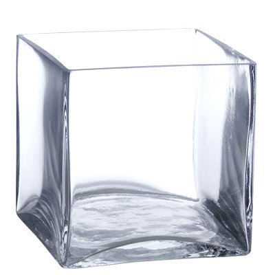 6 Pack Clear Square Glass Vase Cube 5 Inch 5 X 5 X 5 6pc Six