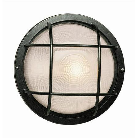 Trans Global Lighting 41515 Bk The Standard 1 Light Large Round Bulkhead Black